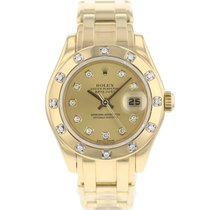 Rolex Lady-Datejust Pearlmaster Ouro amarelo 29mm Ouro