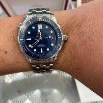 Omega Seamaster Diver 300 M Acier Bleu Sans chiffres France