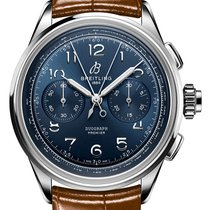 Breitling Duograph Steel 42mm Blue Arabic numerals