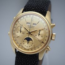 Record Yellow gold 36mm Manual winding pre-owned