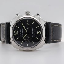 Panerai Radiomir Chronograph Steel 42mm Black Arabic numerals