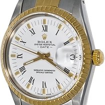 Rolex Oyster Perpetual Date Steel 34mm White Roman numerals