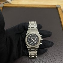 Audemars Piguet Royal Oak Chronograph używany 39mm Czarny Chronograf Data Stal