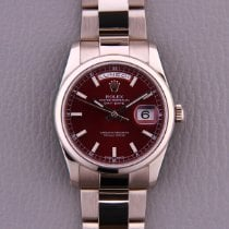 Rolex Day-Date 36 White gold 36mm Red