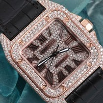 Cartier Santos 100 Rose gold 33mm Roman numerals United States of America, New York, New York