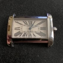 Cartier Tank Divan Steel 38mm White Roman numerals