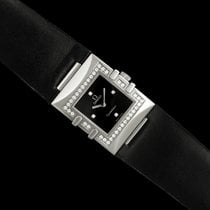 Omega Constellation Ladies pre-owned 19.3mm Black Leather
