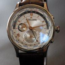 Maurice Lacroix Masterpiece Worldtimer Steel 42mm Silver Roman numerals