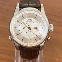 Oris Artelier Worldtimer Steel 42.5mm Silver Arabic numerals