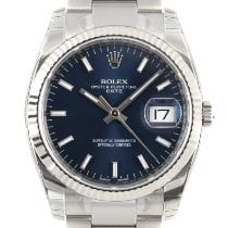 Rolex Oyster Perpetual Date Goud/Staal 34mm Blauw