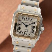 Cartier Santos Galbée Gold/Steel 32mm Silver