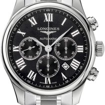 Longines Steel Automatic Black 44mm new Master Collection