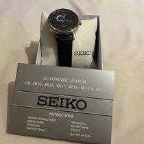 Seiko новые Автоподзавод Прозрачная задняя крышка Люминесцентные стрелки Хронометр Сталь Минеральное стекло