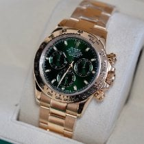 Rolex Yellow gold Automatic Green No numerals 40mm pre-owned Daytona