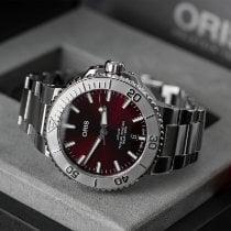 Oris Steel Automatic Red No numerals 41.5mm new Aquis