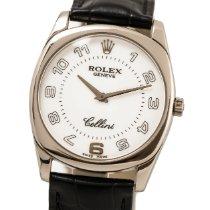 Rolex Cellini Danaos Or blanc 33mm Blanc Arabes