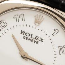 Rolex Cellini Danaos Bjelo zlato 33mm Bjel Arapski brojevi