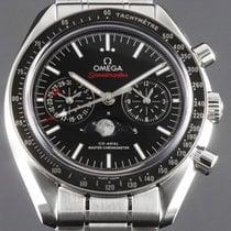 Omega Speedmaster Professional Moonwatch Moonphase Steel Black No numerals