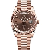 Rolex Rose gold Automatic Brown Roman numerals 40mm new Day-Date 40