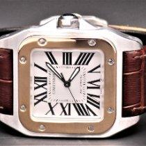 Cartier Santos 100 Acciaio 33mm Bianco Romani Italia, Aversa