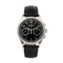 Patek Philippe Chronograph pre-owned 39mm Black Chronograph Crocodile skin