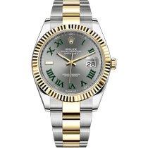 Rolex Datejust 126333-0019 New Gold/Steel 41mm Automatic
