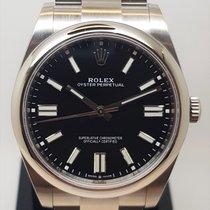 Rolex Oyster Perpetual Сталь 41mm Черный Без цифр
