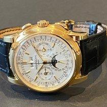 Patek Philippe Perpetual Calendar Chronograph occasion 40mm Argent Cuir