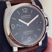 Panerai Steel Automatic Black Arabic numerals 44mm pre-owned Luminor Marina 1950 3 Days Automatic