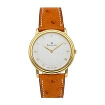 Blancpain Yellow gold Manual winding White 33.8mm pre-owned Villeret Ultra-Slim