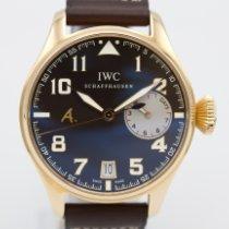 IWC Pозовое золото Автоподзавод Коричневый Aрабские 46mm новые Big Pilot