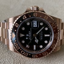 Rolex GMT-Master II Oro rosa 40mm Nero Senza numeri Italia, monsummano terme