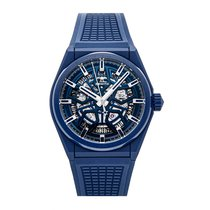 Zenith Ceramic Automatic Blue No numerals 41mm pre-owned Defy