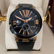 Ulysse Nardin Executive Dual Time pre-owned 43mm Black Fold clasp
