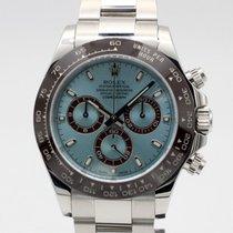 Rolex Daytona Платина 40mm Синий Без цифр
