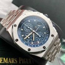 Audemars Piguet Royal Oak Offshore Chronograph Staal 42mm Blauw Geen cijfers