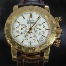 Zenith Yellow gold Automatic White No numerals 40mm pre-owned El Primero
