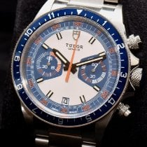 Tudor Heritage Chrono Blue Steel 42mm Blue No numerals