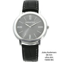 Audemars Piguet Jules Audemars White gold 38mm Grey No numerals