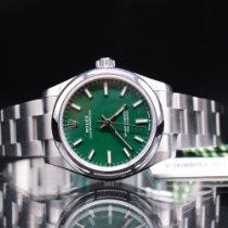 Rolex Oyster Perpetual 31 Stål 31mm Grön Inga siffror