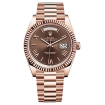 勞力士 Day-Date 40 新的 2021 自動發條 附正版包裝盒和原版文件的手錶 228235