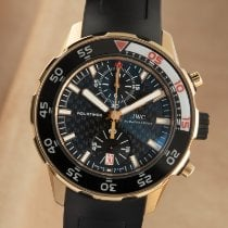 IWC Yellow gold Automatic Black 45mm pre-owned Aquatimer Chronograph