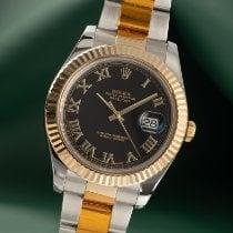 Rolex Datejust II Złoto/Stal 41mm Czarny
