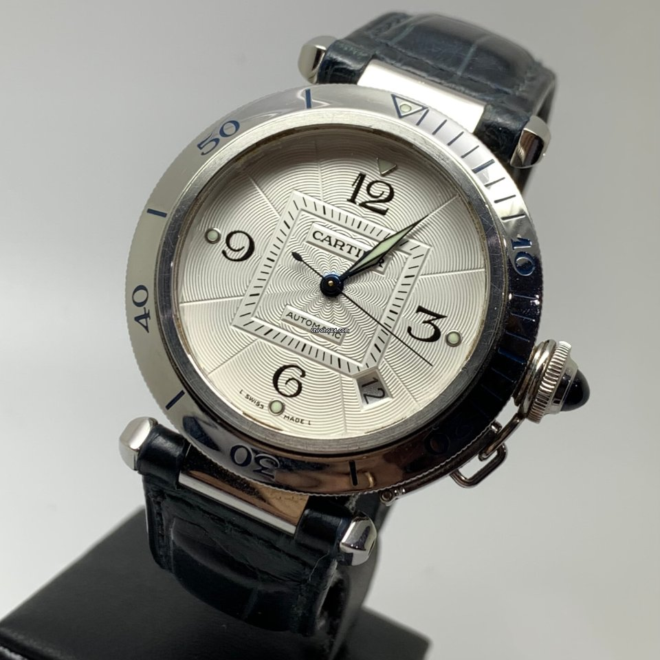 Cartier Pasha 38mm Automatic Grill Steel