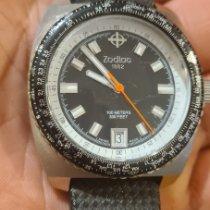 Zodiac Sea Dragon Steel 38mm Black No numerals