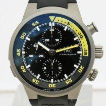 IWC Titanium Automatic Black 44mm pre-owned Aquatimer Chronograph