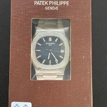 Patek Philippe Nautilus Сталь 40mm Синий Без цифр