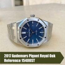 Audemars Piguet Royal Oak Selfwinding Acero 41mm Azul Sin cifras