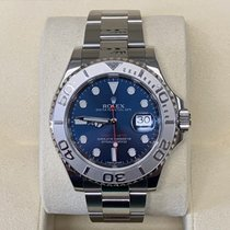 Rolex Platinum Automatic Blue No numerals 40mm pre-owned Yacht-Master 40