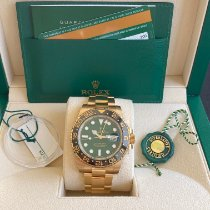 Rolex GMT-Master II 116718LN Sehr gut Gelbgold 40mm Automatik